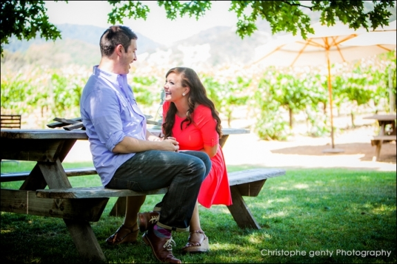 Napa Valley Candid Proposal Photography - O'Brien Winery - Aaron & Megan