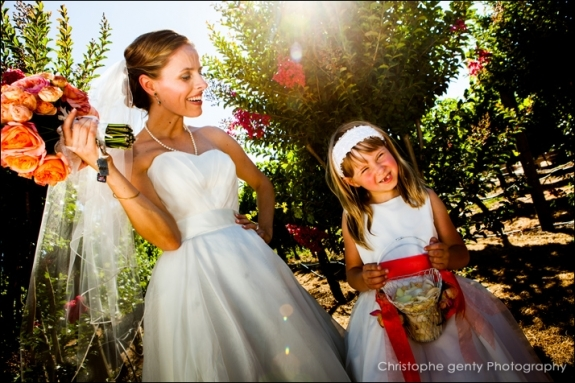 Wedding photography at Brix in Napa CA - Emily & Cory + Baby Madison