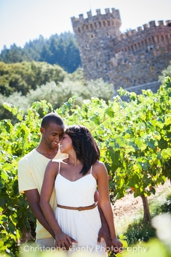 Engagement photography at the Castle Di Amorosa