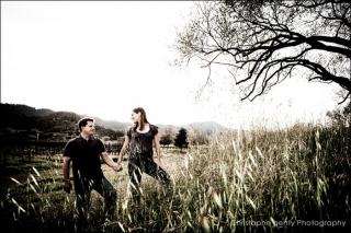 Engagement photography at Brix Restaurant in Napa