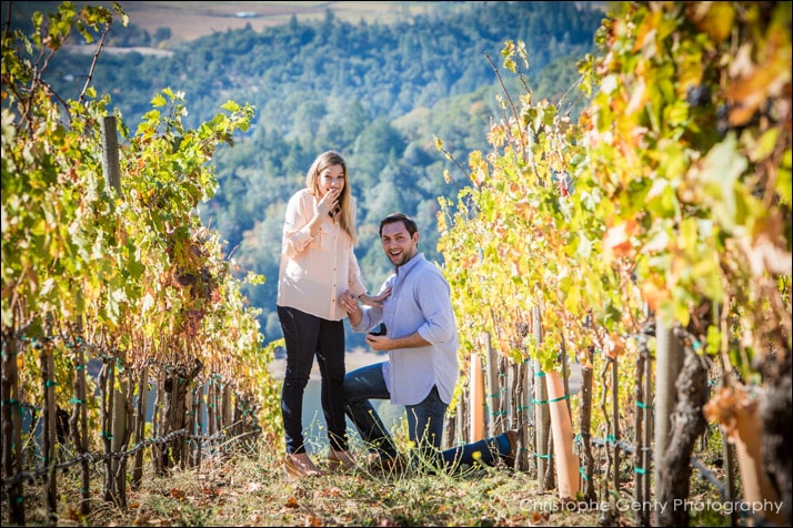 Viader Candid Wedding Proposal Photography - Angwin, CA