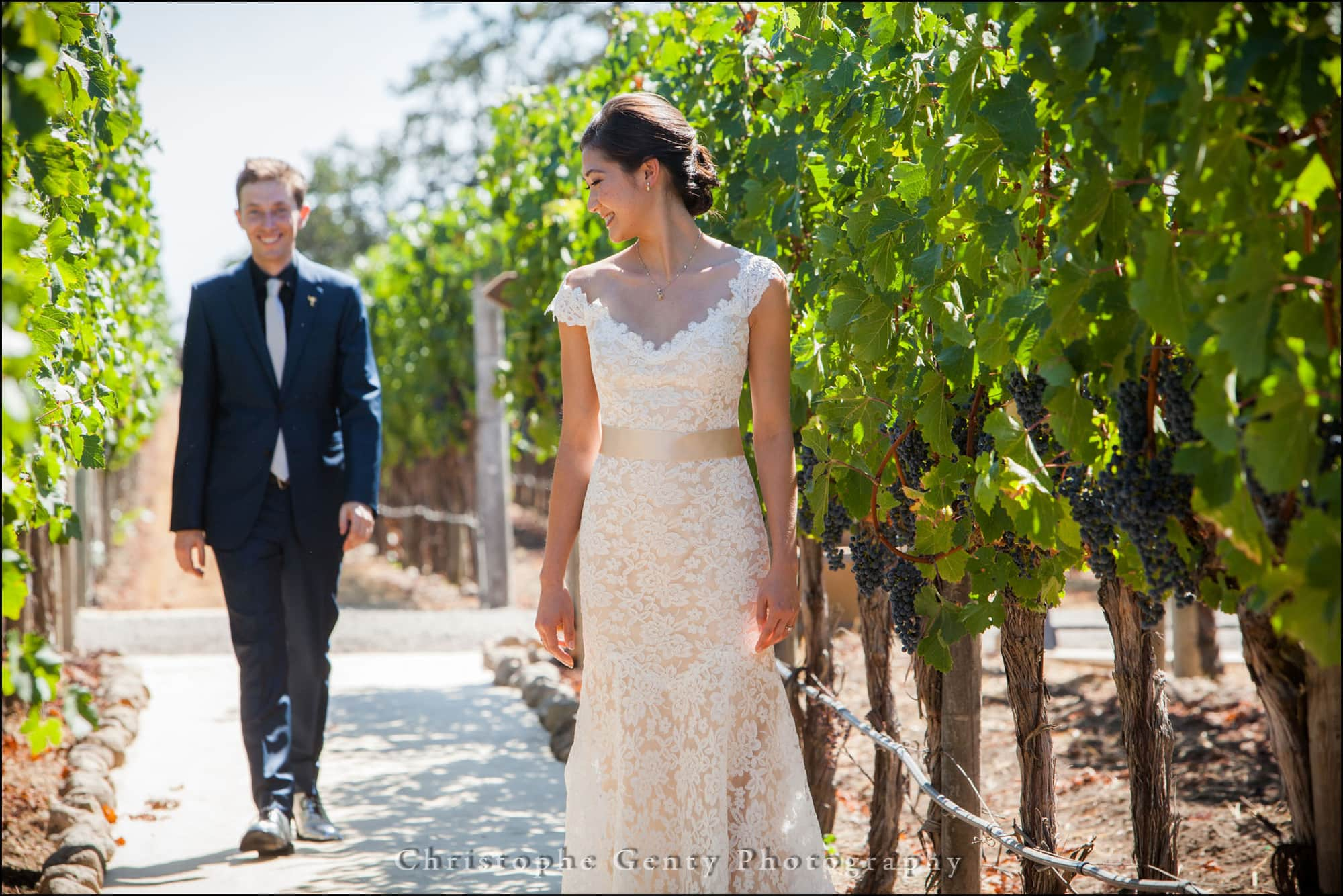 First look wedding photography in napa valley christophe for Napa wedding photographer