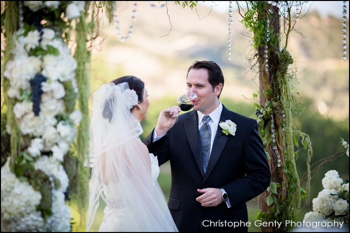 Napa Valley wedding photography at The Hills Estate, CA - Kristin & Aaron