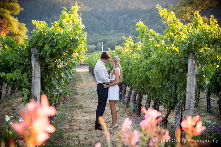 Mariage Proposal Photography at Brix Restaurant - Napa, CA