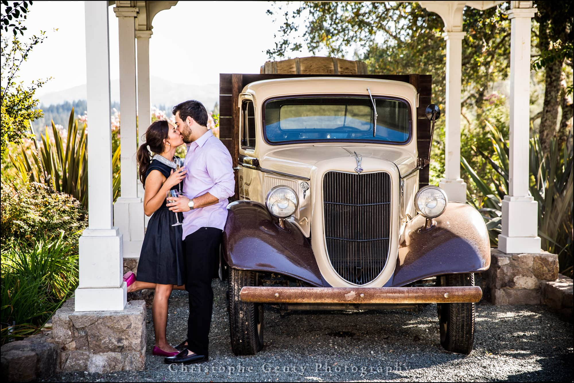 Mariage Proposal Photography in The Napa Valley - Bremer Winery