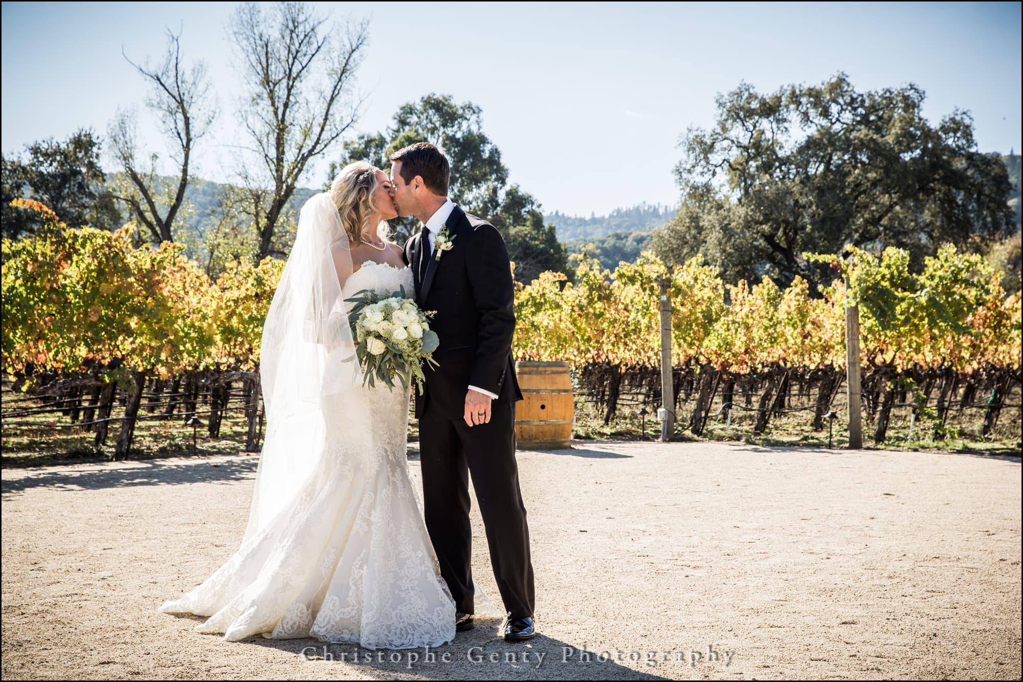 Wedding photography at Brix Restaurant in Napa, CA