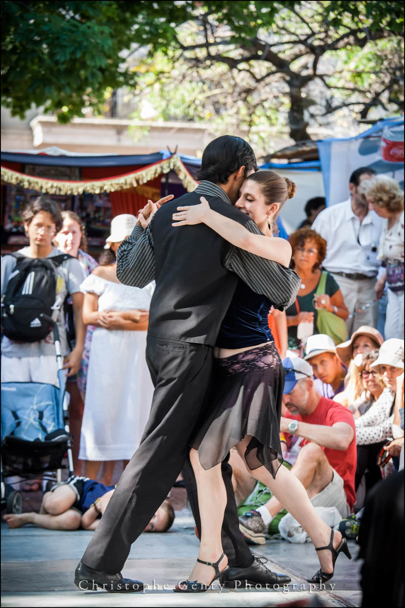 Tango Dancers in  San Telmo district - Buenos Aires, Argentina - December 2015