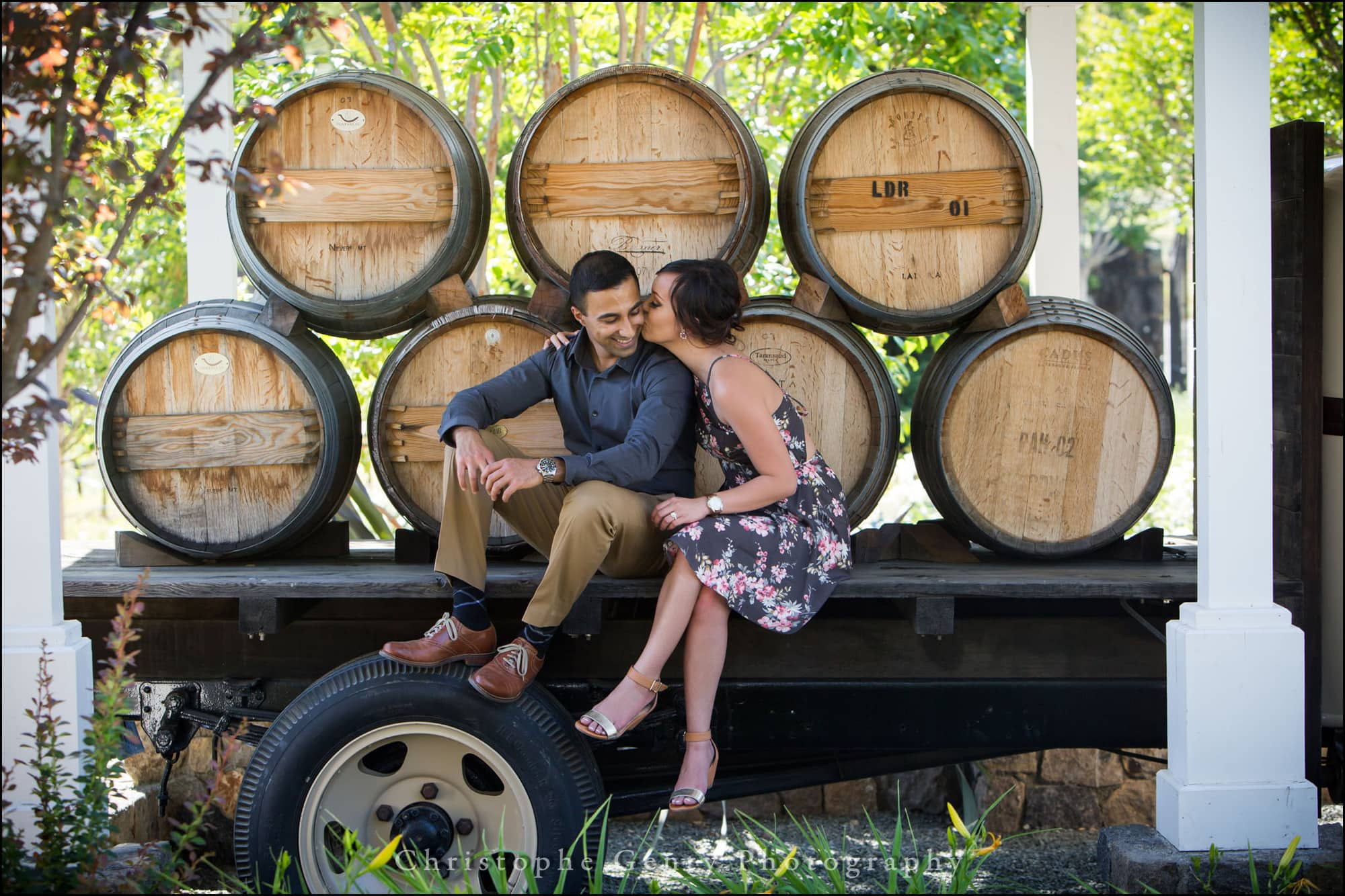 Marriage Proposal Photography at Bremer Winery in The Napa Valley, California