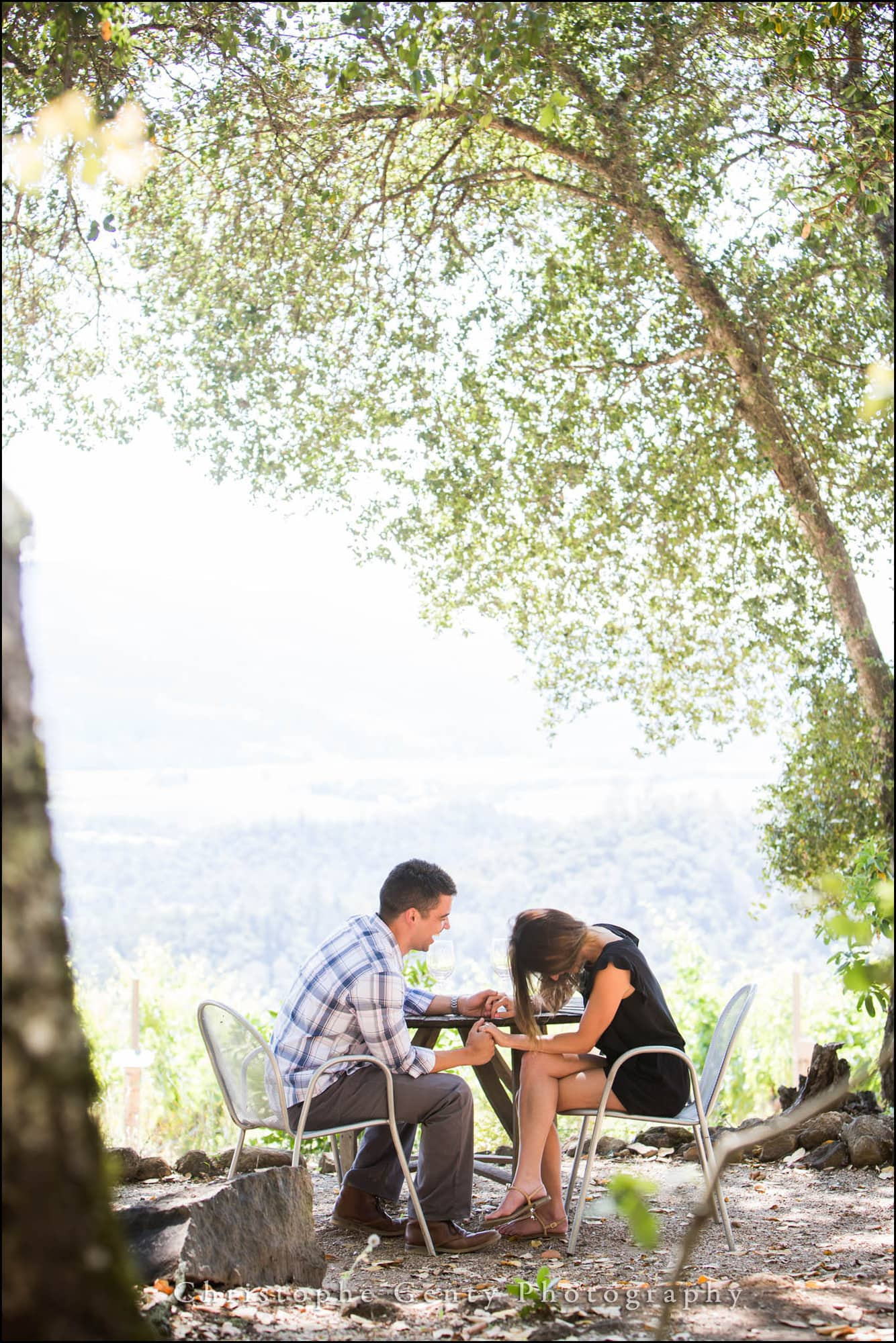 Marriage Proposal Photography in The Napa Valley