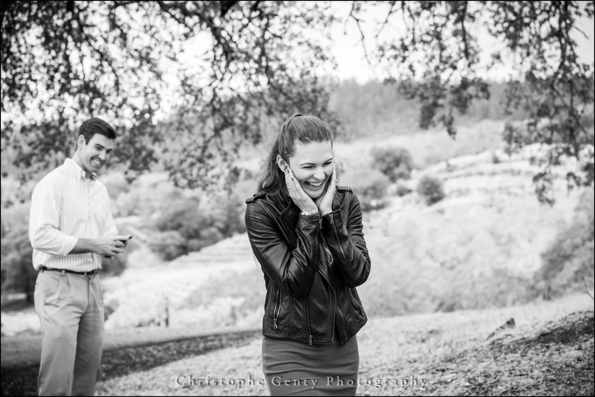 Marriage Proposal Photography in The Napa Valley - Buehler Vineyards, St Helena, CA
