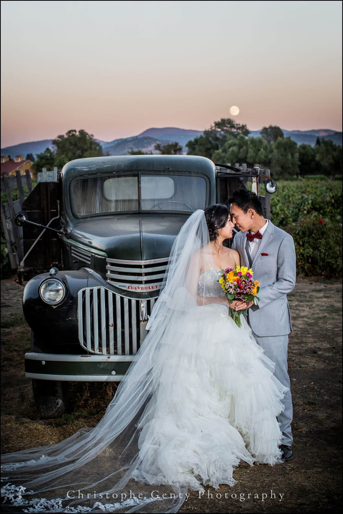 Pre-wedding photography at V.Sattui Winery in The Napa Valley
