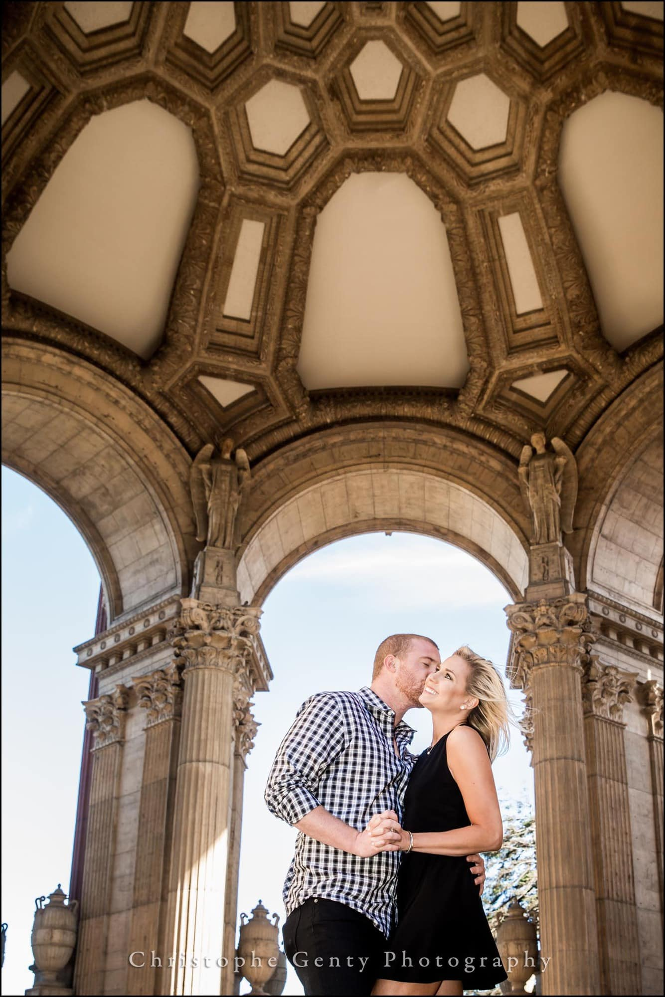 Engagement photography at The Palace of Fine Arts, San Francisco