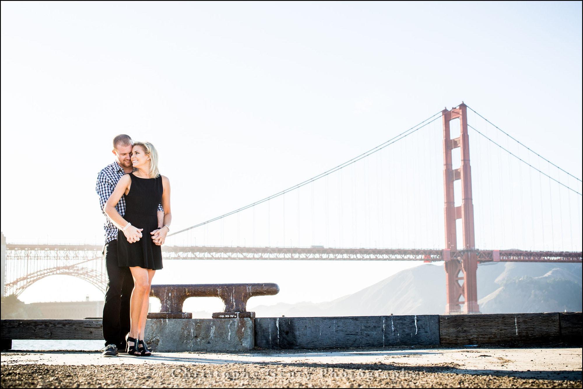 Engagement photography at Torpedo Wharf in San Francisco Bay Area, CA