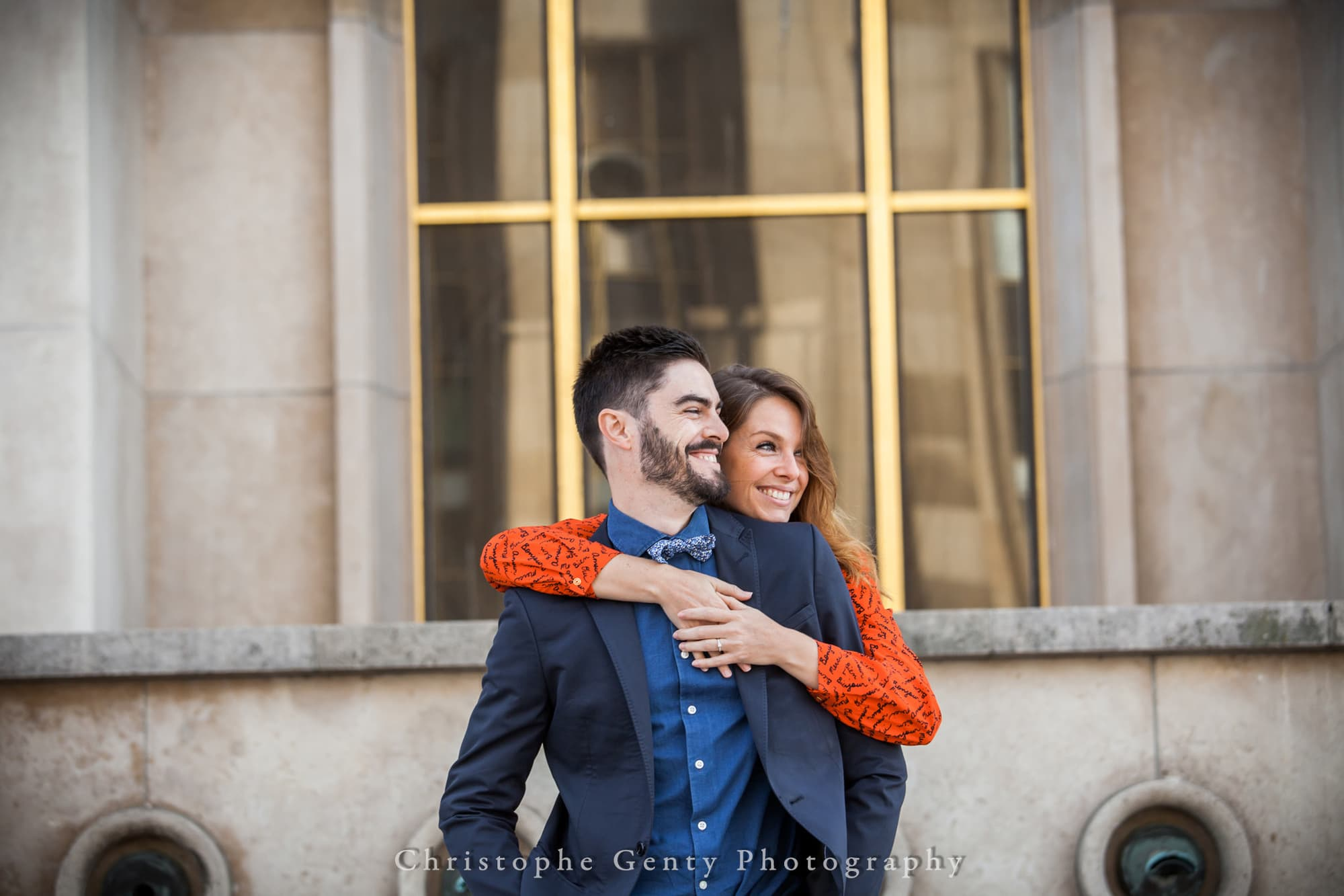 Paris, France Marriage Proposal Photography - at the Trocadero